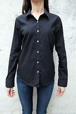 MCS Marlboro Classics Womens Casual Shirt Black Striped Long Sleeved 44 L Large
