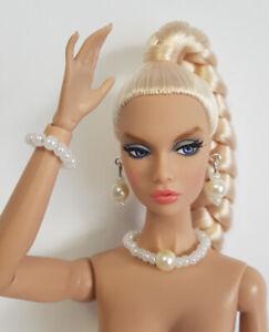 "DOLL JEWELRY fits 11""-12"" Fashion Dolls Poppy Parker, Barbie Fashionistas Pearls"