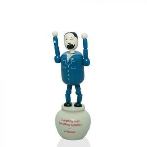 Ai Weiwei - Push up wooden Toy Figure Sculpture - Royal Academy, 2015