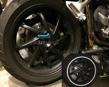 STRISCE MOTO BIKE ADESIVI CERCHONI RUOTE RIFRANGENTI 3M™NERO 10mm X 6MT