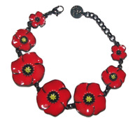 Lol Bijoux - Bracelet Coquelicot - Rouge Eclatant - Lolilota