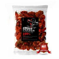 50g Dried Chilli  Naga Bhut Jolokia Pods - Ghost Pepper Chilli Highest Quality