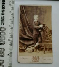 Vintage CDV. Unknown little boy. T.C.Turner. London and Hull.