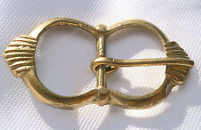 Pair of double with brass buckles, reeenactment, LARP, living history 013