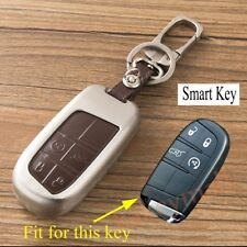 Metal Key Case Holder Bag Shell For Jeep Compass Grand Cherokee 300C 4 Buttons