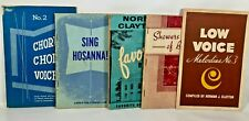 1950's Christian Hymnals Sheet Music Song Books Chorus Choir Vintage Lot of 5