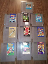 Nintendo video Game wholesale Lot 10 nes games cartridge only.