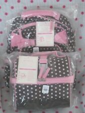 NEW Pottery Barn Kids SMALL CHOCOLATE DOT Backpack  + RETRO LUNCH BAG! LAST ONE!