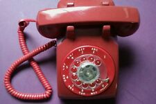 Western Electric Red 500 Telephone -- WORKS!