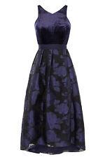 Coast Audrena Velvet High Low Dress Size UK 16 RRP  £195