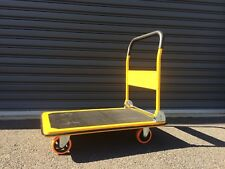 250 KG FLAT BED TROLLEY with Rubber Mat Base Folding Platform Heavy Duty metal