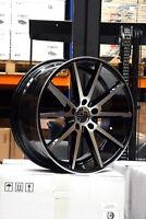 """19"""" x 9.5J ET40 5x120 BMW MACHINED FACE BLACK ALLOY WHEELS VFS-1 STYLE Y3485"""