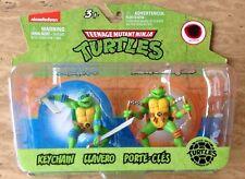 Nickelodeon Teenage Mutant Ninja Turtles Key chain Figures Toy Set Cake Topper