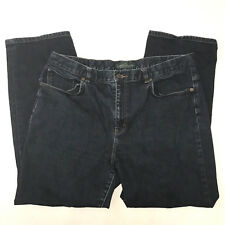 Lauren Jeans Co Ralph Lauren Classic Straight Leg Jeans Size 16 Dark Wash Denim