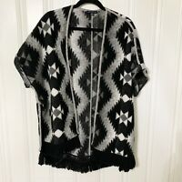 American Eagle Outfitters Size M Women's Black, Gray Southwestern Aztec Cardigan