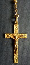 Petit chapelet en métal doré Fin du 19e siècle rosaire rosary