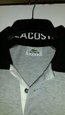 Lacoste Polo top grey & Black Size 2 Boys T Shirt