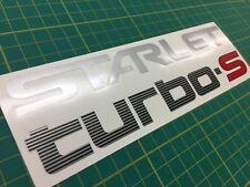 Toyota Starlet Turbo S R EP71 GT Turbo rear hatch replacent decal sticker JDM
