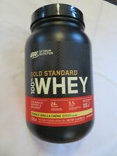 Optimum Nutrition Gold Standard 100% Whey French Vanilla Creme 2 lbs OPENED *