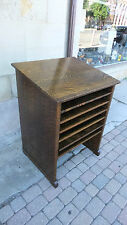 Wine Rack/ Bar-Antique Library Cabinet-Quarter Sawn Oak-Arts Crafts Mission-Deco