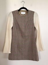 =EDGY CUTE= MAISON MARTIN MARGIELA Plaid Tartan Vintage Contrast Dress Top AU 10