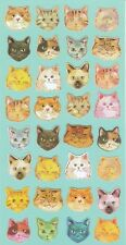 Cute Cat Face Stickers Kawaii Pet Funny Japanese Stationery Cats Lovers Gift