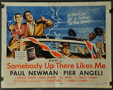 SOMEBODY UP THERE LIKES ME 1956 ORIG 22X28 MOVIE POSTER PAUL NEWMAN PIER ANGELI