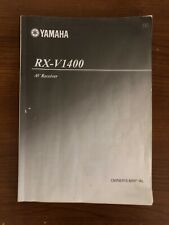 Yamaha RX-V1400 AV Receiver Owner's Manual FREE SHIPPING