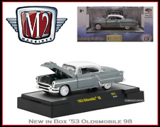 New Collectible M2 1/64 Diecast Car '53 Oldsmobile 98 in Acrylic Display Case