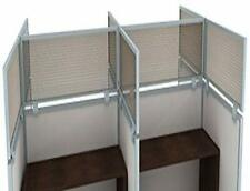 12 Polycarbonate Cubicle Mounted Privacy Panel With Small Brackets 12 X 24