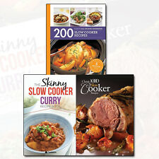 Slow Cooker Recipes 3 Books Collection Set Skinny Slow Cooker Curry Recipe NEW