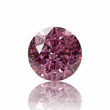 Argyle Pink Diamond Natural 0 .18 Ct Fancy Vivid Color GIA Certified Round Cut
