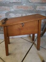 Rare footrest with brushes from shoeshine original vintage wooden