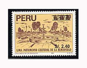 Peru, Sc #1219, MNH, 1999, City of Culture, Surcharged, J-0250