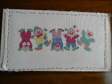 Completed Needle Treasures Cross Stitch Dancing Clowns Circus - 11x20 Jca New