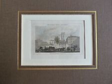 LONDON St. Andrew´s Church  Holborn Hill coloriert Stich Lithographie