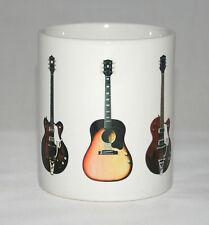 Guitar Mug. George Harrison. 5 Famous guitars. Gibson, Rickenbacker etc
