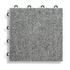 Basement Carpet Floor Tiles Gray - Made In USA