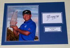 KJ CHOI 2011 PLAYERS CHAMPION GOLF HAND SIGNED AUTOGRAPH PHOTO MOUNT