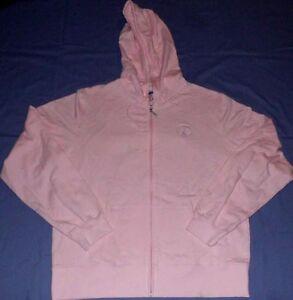 Washington Redskins Hoodie Ladies Small Pink Full Zip Reebok NFL Womens Jacket