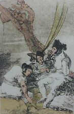 """SALVADOR DALI GOYA  """"Los Caprichos"""" 11 Muchachas SIGNED HAND NUMBERED Lithograph"""