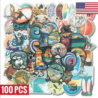 100 SUMMER Surf Stickers bomb Vinyl Skateboard Luggage Surfboard Graffiti Decals