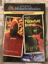 The Masque of the Red Death/Premature Burial (DVD, 2002, Midnite Movies, VG