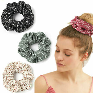 Large Scrunchies Chiffon Elastic Big Hair Tie Ring Holder Rubber Bands Bobbles