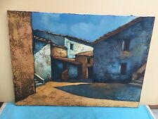 PIETRO VANNI (1925-2002) OLIO SU TELA OPERA UNICA TERZONE DI LEONESSA cm 50 x 70
