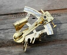 SET OF 10 Nautical Shiny Brass Sextant Maritime Collectible Desktop Sextant Gift