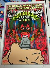Killswitch Engage Dragonforce Chimaira Gig screened Rock Poster Fillmore Denver