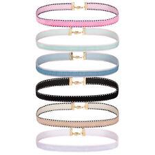 Choker Necklace Velvet Ribbon Gothic Collar Women's Set Adjustable 6PC