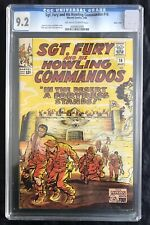 SGT FURY AND HIS HOWLING COMMANDOS #16 CGC 9.2 (3/65) OW-W STAN LEE/JACK KIRBY