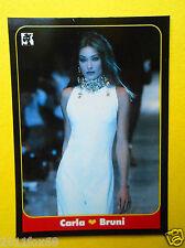 figurines chromos figurine masters cards #46 carla bruni 1993 model moda modelle